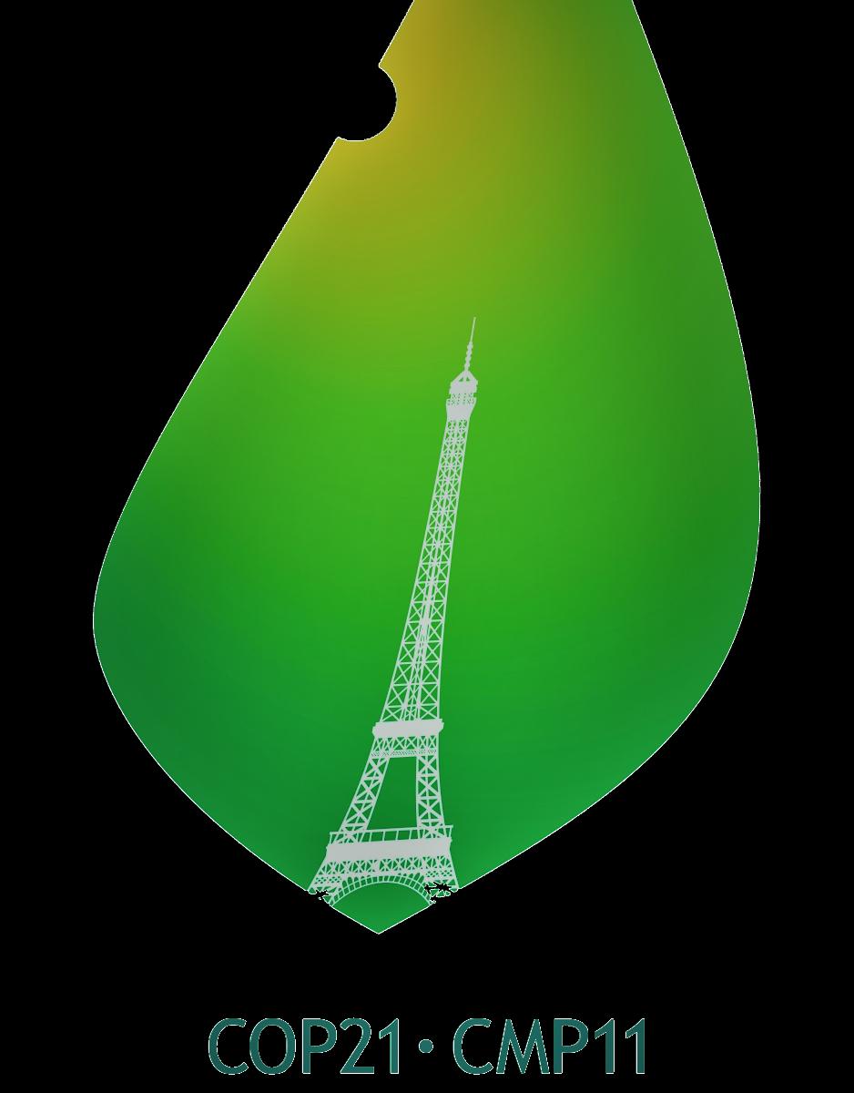 Logo de la COP 21 rappelé par Vincent Martet
